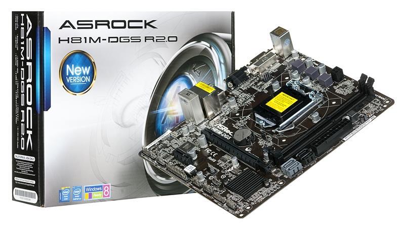 Mainboard-Asrock-H81M-DGS-R2.0